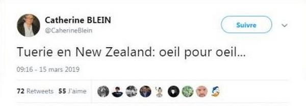 Attentats de Christchurch : des plaintes annoncées contre une élue après un tweet islamophobe