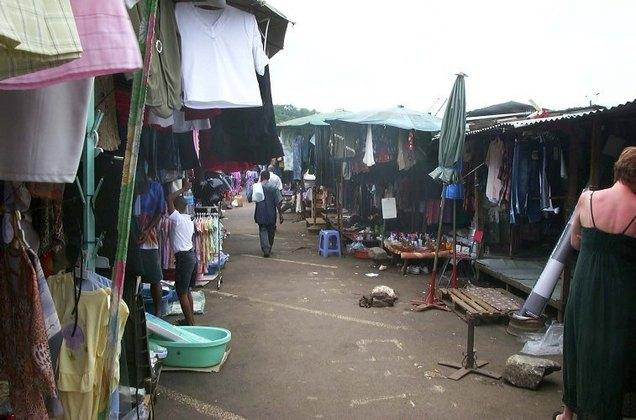La marché de Mamoudzou, capitale de Mayotte.
