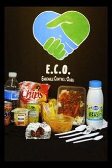 Le contenu d'un panier distribué par ECO.