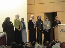 Les sept membres élus du conseil d'administration