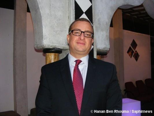 Sharif el-Gamal, directeur du projet Park 51 à New York, de passage à Paris pour promouvoir son centre communautaire musulman.