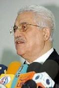 Le leader palestinien, Mahmoud Abbas