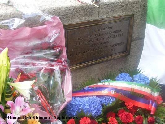 Une plaque commémorative aux morts algériens du 17 octobre 1961 est apposée depuis 2001 par la mairie de Paris.