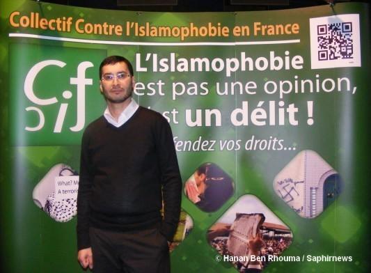 Le CCIF a réunit, fin octobre, plusieurs centaines de personnes pour les sensibiliser à la gravité de la situation en France. Ici, Samy Debah, président du CCIF.
