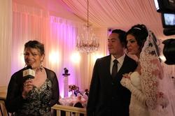 Les mariés se sont prêtés au jeu des interviews avec Berbère TV.