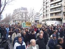 Manifestation parisienne pour le respect des religions