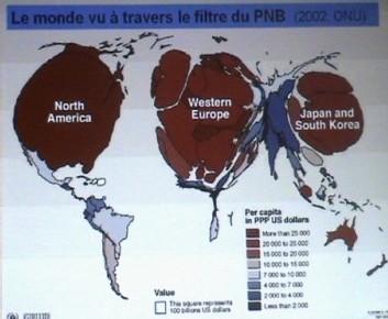 vision du monde à travers le paramètre du PNB (Produit National Brut)