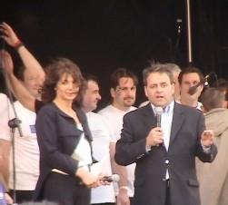 Stéphanie Fugain et Xavier Bertrand, ministre de la santé