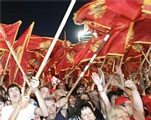 Des partisans de l'indépendance du Monténégro