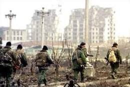 Patrouille russe en Tchétchénie