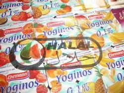 Une gamme de produits diversifiée (ici des yaourts)