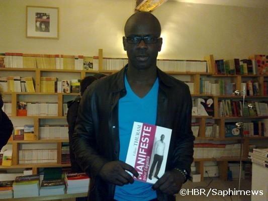 """Lilian Thuram lors de la soirée de lancement de son livre """"Manifeste pour l'égalité"""""""
