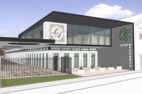 Le projet architectural des nouveaux locaux du lycée Averroès à Lille.