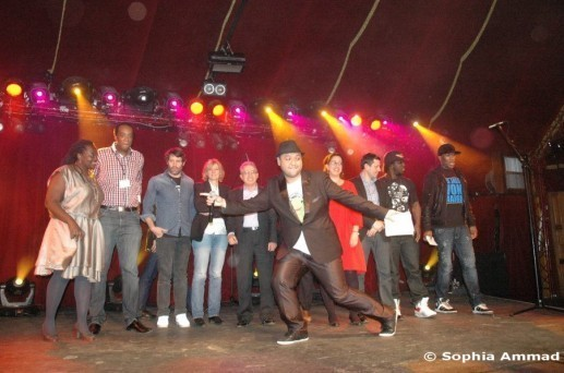 Le jury des Y'a Bon Awards 2012, animé par Raphäl Yem.