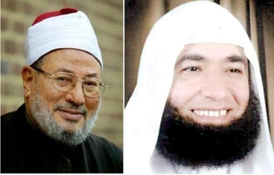 Yusuf Al-Qaradawi (à g.) et Mahmoud El-Masri, interdits de territoire français.