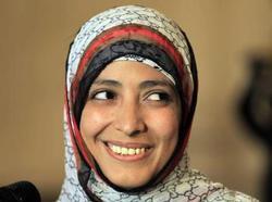 Parmi les invités de la 29e RAMF, Tawakkul Karman, activiste yéménite pour les droits des femmes, Prix Nobel de la paix 2011.