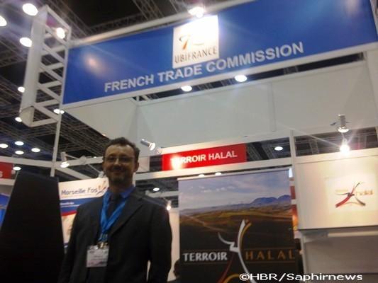 Le Pavillon France a réuni sept entreprises lors du MIHAS 2012, par l'intermédiaire de la mission économique Ubifrance en Malaisie. Ici, François Matraire, son directeur.