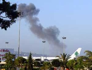 Raid aérien sur l'aéroport de Beyrouth
