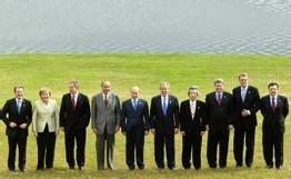 Les dirigeants du G8