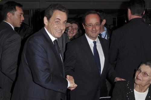 Nicolas Sarkozy et François Hollande se sont furtivement croisés au dîner du CRIF en février dernier.