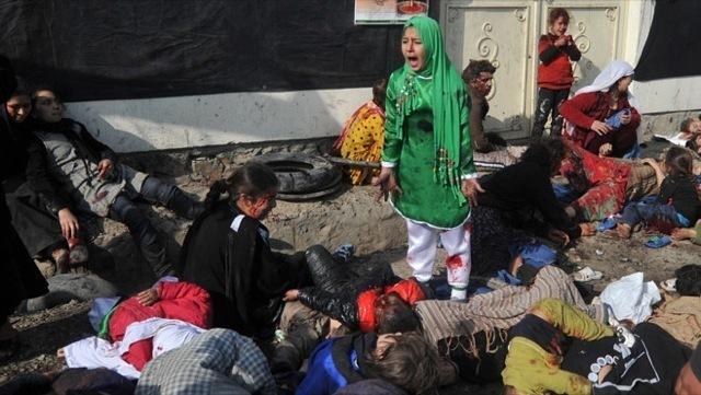 Prix Pulitzer dans la catégorie « Photographie breaking news » pour ce cliché pris par le reporter photographe Massoud Hossaini (de l'AFP), au moment d'un attentat-suicide à Kaboul, en 2008.