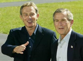 Tony Blair et Georges W. Bush
