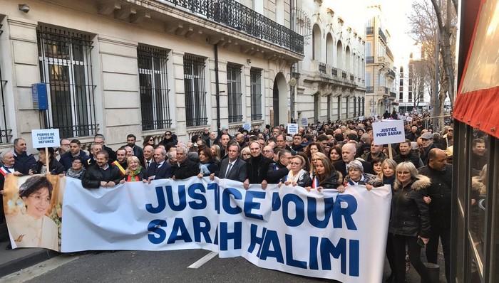 Des rassemblements ont été organisés, dimanche 5 janvier, en France, ici à Marseille, pour réclamer justice pour Sarah Halimi, une retraitée juive tuée en 2017 par son voisin. © Facebook / Martine Vassal