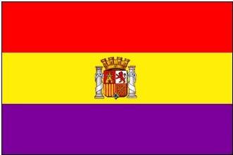 Drapeau espagnol républicain, aujourd'hui disparu