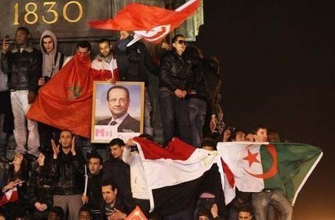 Election de François Hollande : les drapeaux étrangers de la Bastille créent la polémique