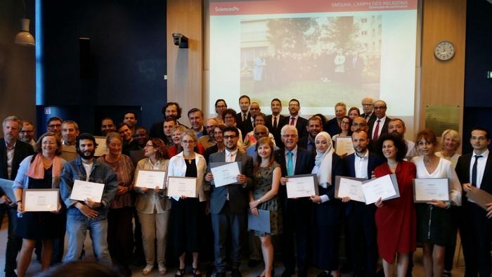 C'est la première promotion d'Emouna, ici réunie pour la réception des diplômes en juillet 2017, que la réalisatrice Annick Redolfi a suivi dans le cadre du documentaire « Dieu à l'école de la République », diffusé sur Public Sénat le 18 janvier.