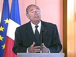 Jacques Chirac lors de la conférence de presse à Toulon