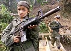 Le nombre d'enfants soldats est estimé à 300 000 dans le monde