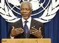 Le secrétaire général de l'Onu Kofi Annan