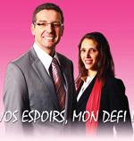 Seïd Ferrat et sa suppléante Floriane Palmiéri-Sall