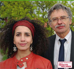 Léla Bencharif et son suppléant Jean-Paul Chartron