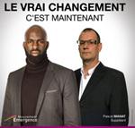 Almamy Kanouté (à gauche) et son suppléant Pascal Manat