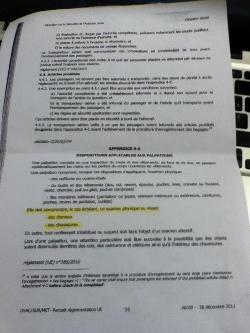 Le document montré par les agents de sécurité pour se justifier de leur décision.