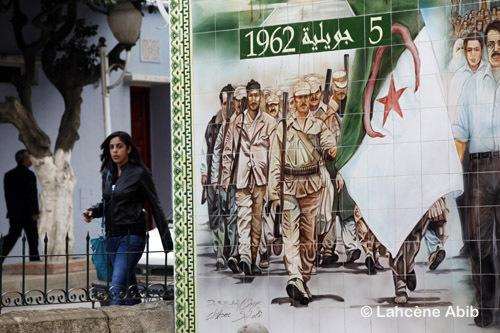Le monument aux martyrs de la ville d'Ouled Fayet, dans la banlieue d'Alger.