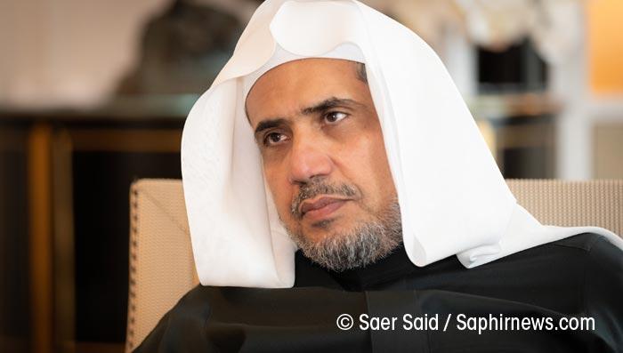 Le secrétaire général de la Ligue islamique mondiale, Mohammed Abdul Karim Al-Issa, lors d'un entretien exclusif accordé à Saphirnews. © Saer Said / Saphirnews.com