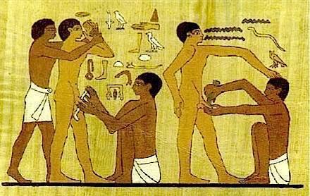 La circoncision était déjà pratiquée dans l'Egypte antique.