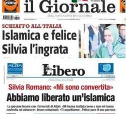 Deux titres violents de la presse italienne après la libération de Silvia Romano.