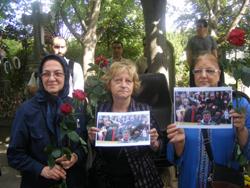 Des membres du Conseil national de la Résistance iranienne soutenu par Mouloud Aounit