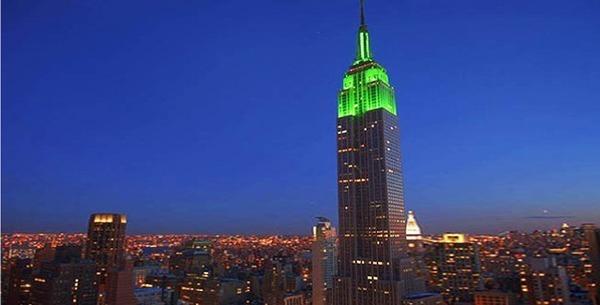 Aïd al-Fitr 2012 : l'Empire State Building revêt les couleurs de l'islam
