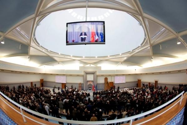 La Grande Mosquée de Strasbourg a été officiellement inaugurée jeudi 27 septembre en présence du ministre de l'Intérieur chargé des Cultes, Manuel Valls. © JF Badias/CUS