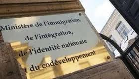 La plaque du ministère de l'Immigration mis en place durant l'ère sarkozyste.