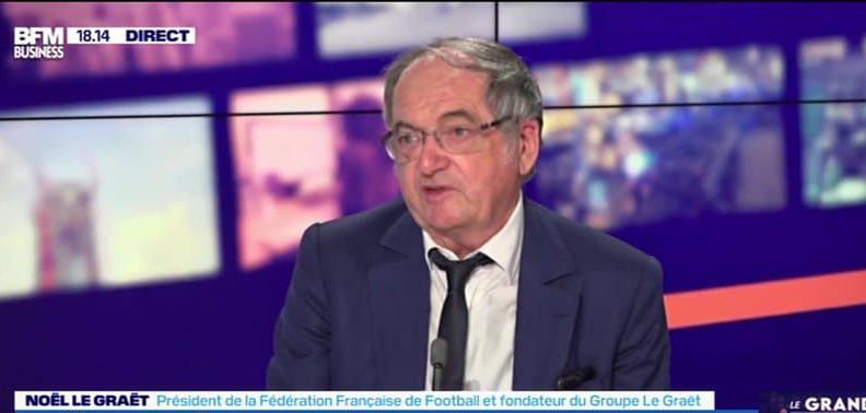 Football : la déclaration surréaliste de Noël Le Graët niant l'existence du racisme dans les stades (vidéo)