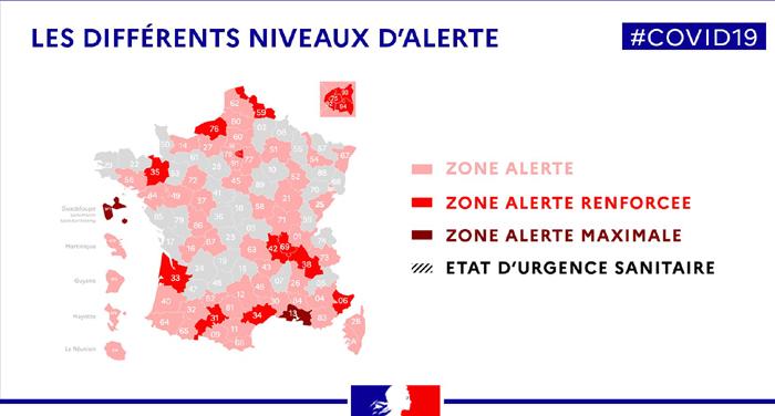 Covid-19 en France : tout comprendre des nouvelles zones d'alerte et des restrictions