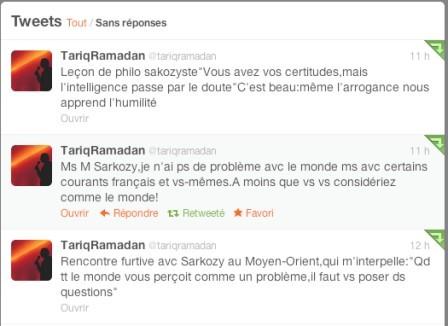 Rencontre furtive entre Tariq Ramadan et Nicolas Sarkozy