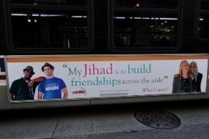 Une affiche de « My Jihad » diffusée sur les bus de Chicago.