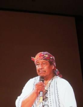 Membre d'un groupe néo-maya en visite en Europe (© 2011 Religioscope).